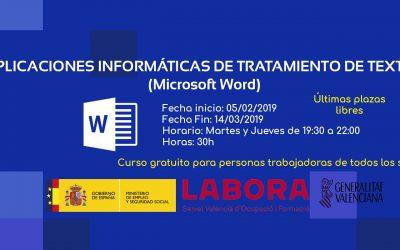 Aplicaciones informáticas de tratamiento de textos (Word)