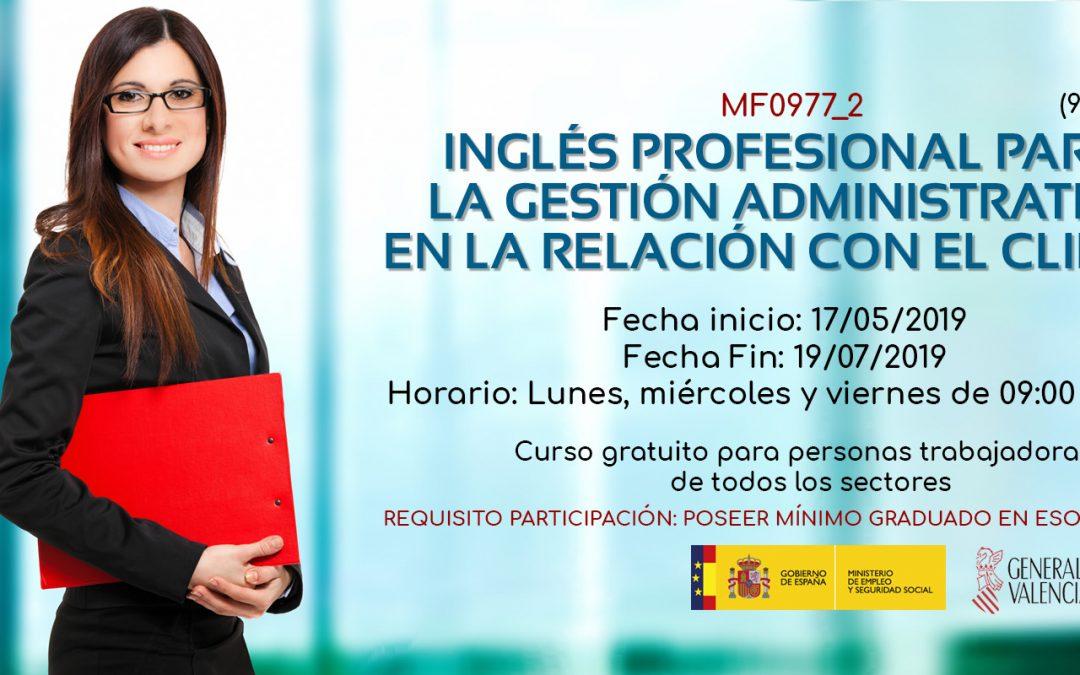 Inglés profesional para la gestión administrativa en la relación con el cliente