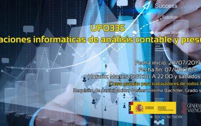 Aplicaciones informáticas de análisis contable y presupuestos