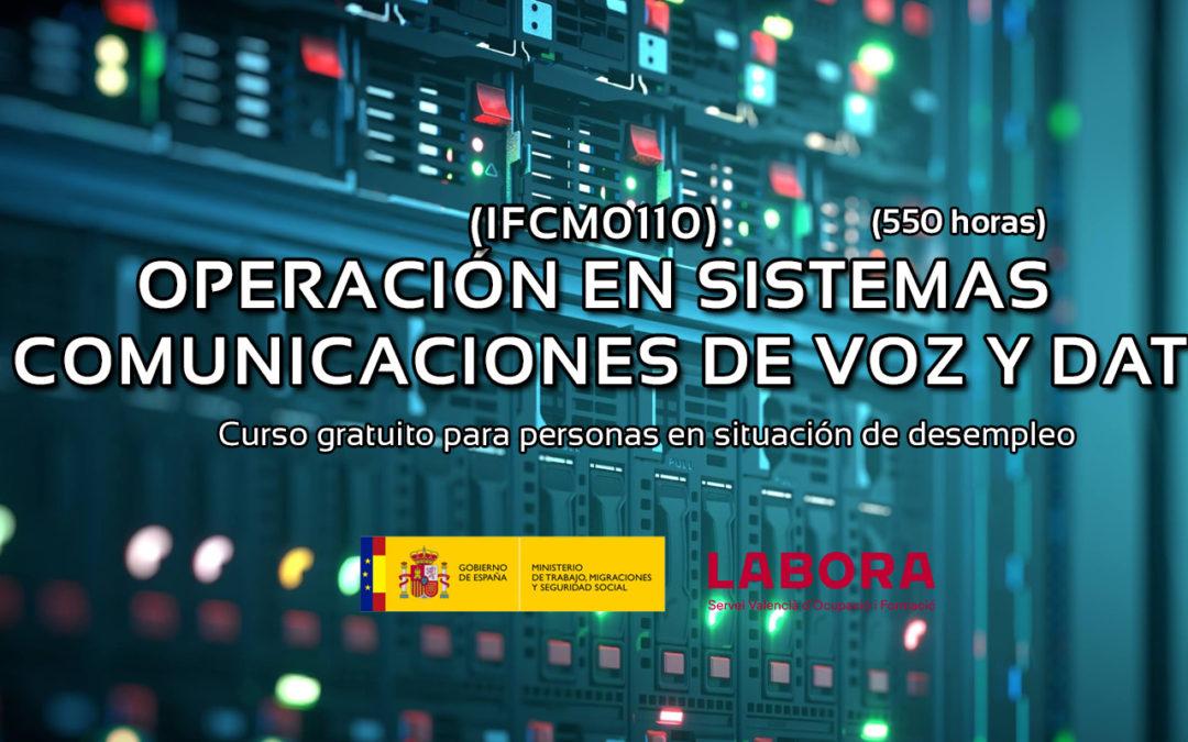 OPERACIÓN EN SISTEMAS DE COMUNICACIÓN DE VOZ Y DATOS