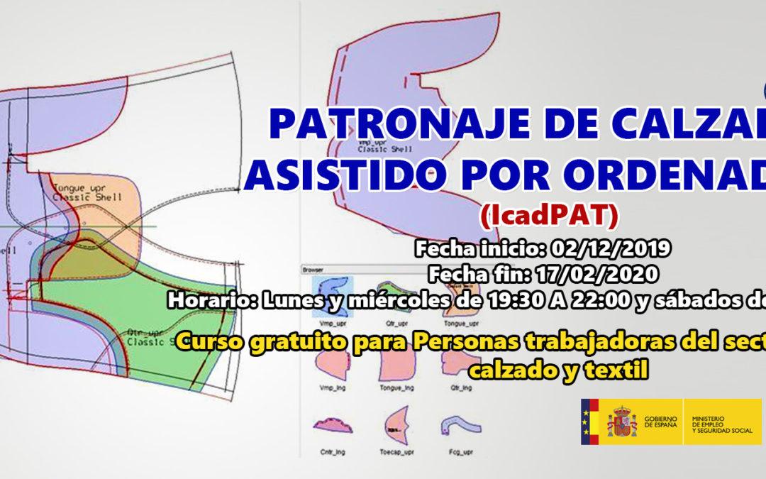 Patronaje de calzado asistido por ordenador (IcadPat)