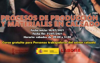 Procesos de producción y materiales en calzado