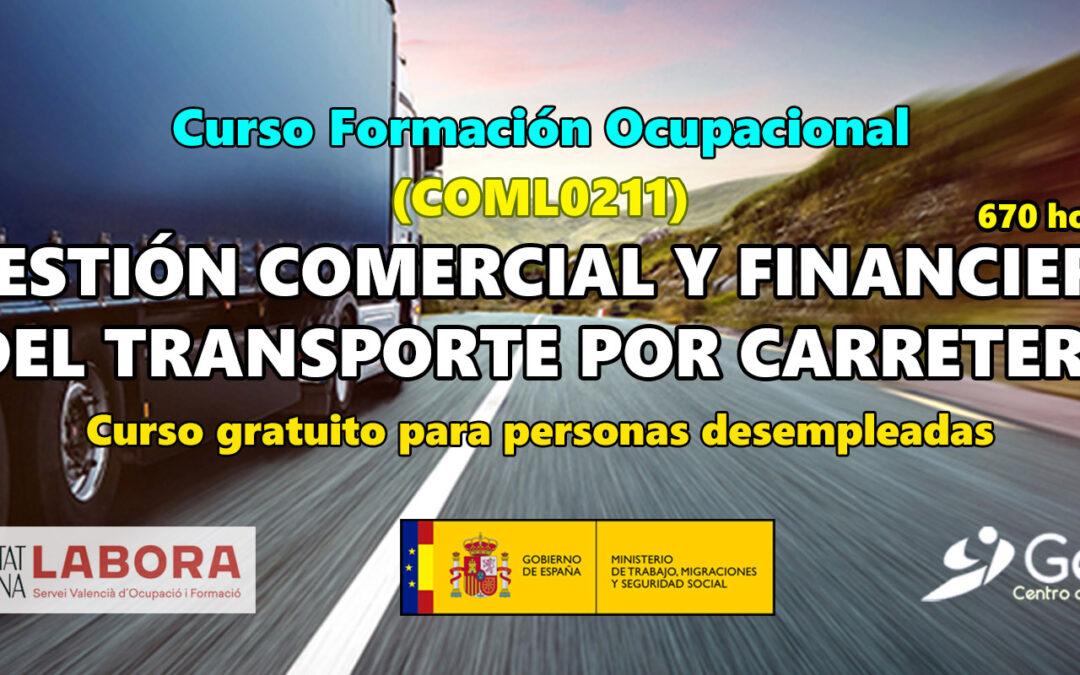 Gestión comercial y financiera del transporte por carretera